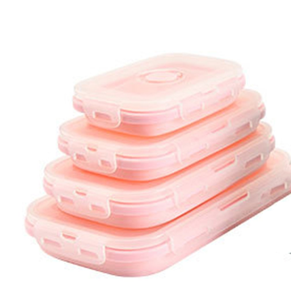 Outdoor Environmental Protection Silicone Lunch Box Microwave Lunch Box Lunch Box Refrigerator Storage Box Sealed Crisper