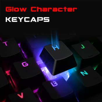 Mechanical Keyboard Wired Gaming Keyboard RGB Mix Backlit 87 104 Anti-ghosting Blue Red Switch For Game Laptop PC Russian US 4