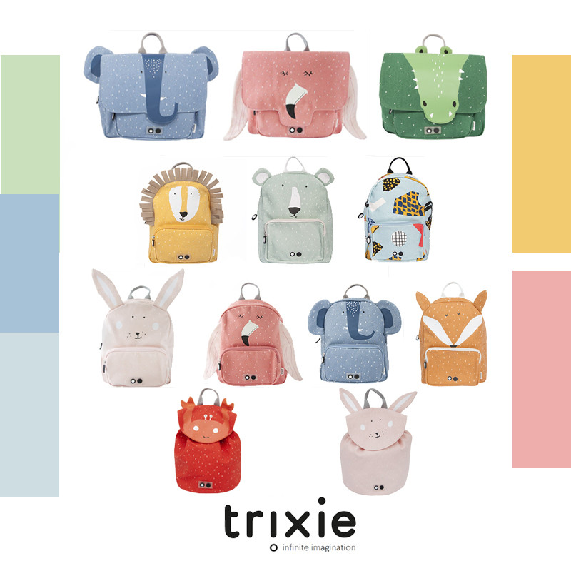 >trixie <font><b>Kid</b></font> Animal Zoo School Bag Lovely Cute <font><b>Toddler</b></font> Children <font><b>Boys</b></font> Girls Design Trends Backpack Baby All Accessories