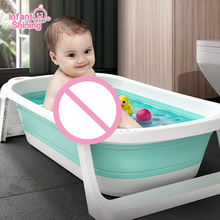 Infant Shining Folding Bath Tub Infants Bathtub 0-6 Years Large Size Newborn Baby