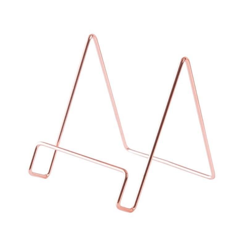Creative Geometric Storage Rack Simple Wrought Iron Organizer Book Stand Holder