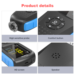 Image 5 - VDIAGTOOL VC200 Coating Thickness Gauge 0 1500 VC300 Backlight Car Paint Film Thickness Tester FE/NFE Measure Car Paint Tool