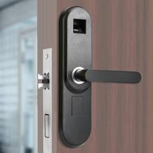 Indoor Security Smart  Fingerprint Password Lock for Home Office Black