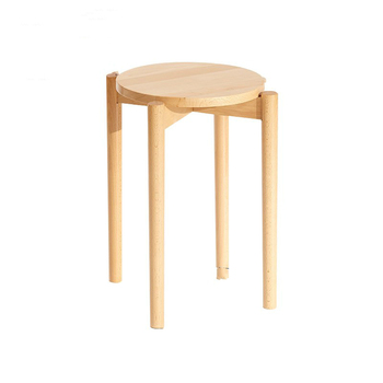 Solid wood square stool home Nordic makeup stool small bench living room dining table stool wooden square chair creative simplic