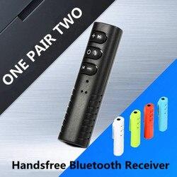 VIKEFON Bluetooth récepteur pince AUX 3.5mm sans fil musique voiture Audio mains libres appel adaptateur automatique pour Xiaomi iPhone téléphone portable