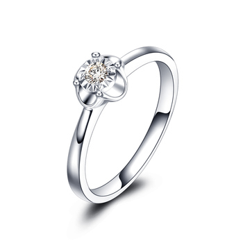 18K Gold Male And Female Couple Ring Platinum Diamond Ring Wedding Marriage Proposal Diamond Ring Genuine Rose Gold Platinum