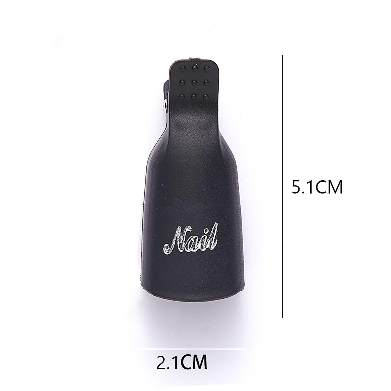 10 Stuks Acryl Nail Art Losweken Clip Cap Uv Gel Polish Remover Wrap Nail Tool