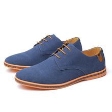2019 Autumn Brand Men Suede Leather Men Shoes Oxford Casual
