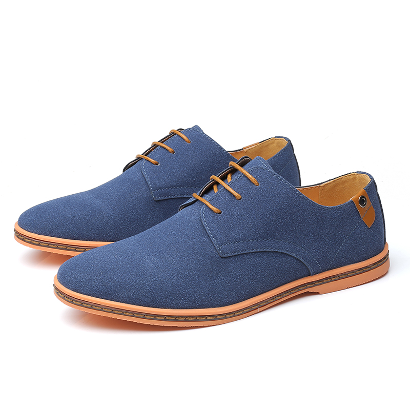 2020 Autumn Brand Men Suede Leather Men Shoes Oxford Casual Classic Sneakers For Men Comfortable Flats Footwear Big Size 38-46
