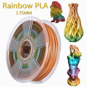 Drukarka 3D Filament 1 75mm PLA Rainbow 250g 500g 1kg druk 3D plastikowy materiał polichromowy kolorowy Filament Pla do druku 3D tanie i dobre opinie EasyThreed CN (pochodzenie) solid Rainbow PLA Filament for 3d printer