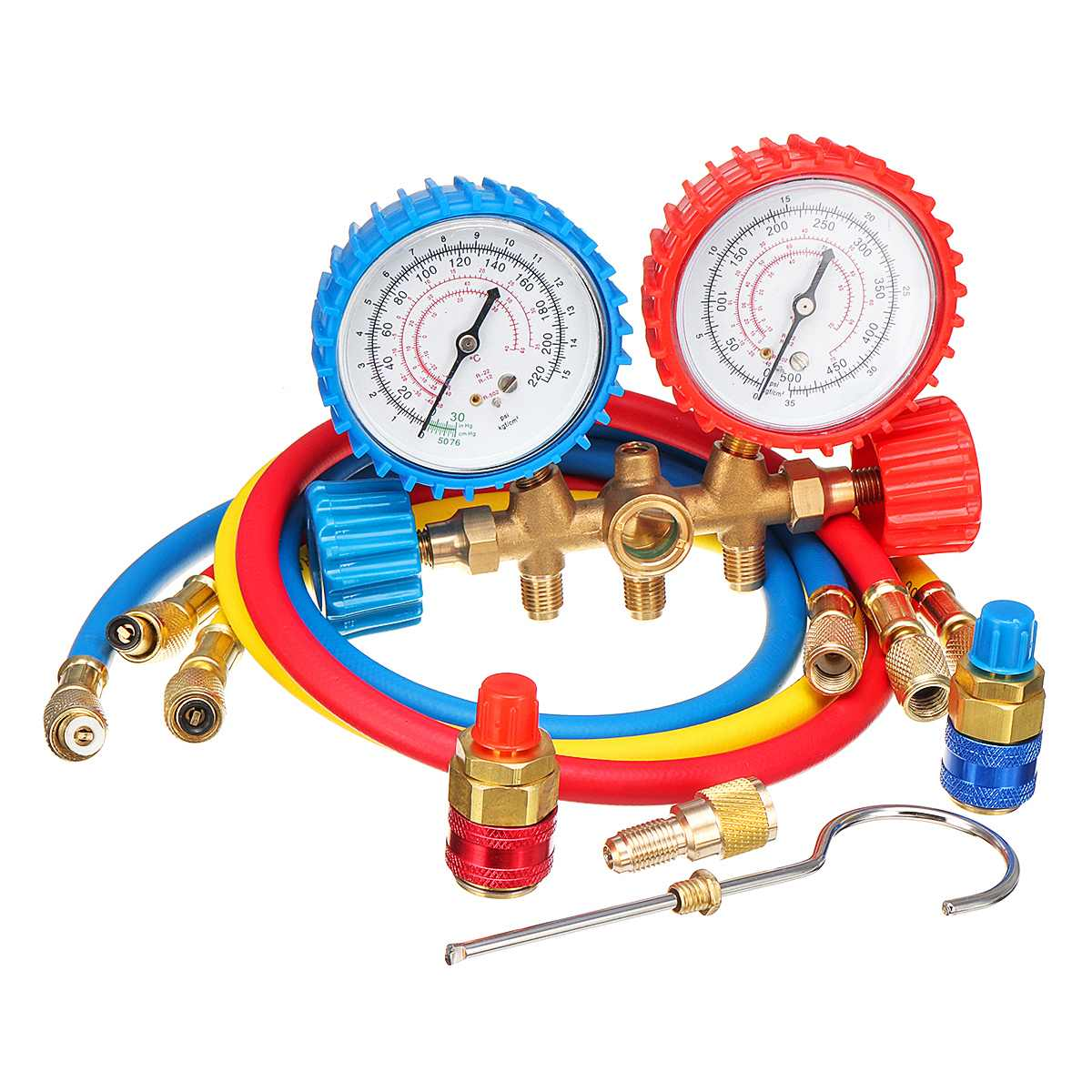 Air Conditioning Manifold Gauge Set Lightweight Test Diagnostic Kit for R134A R12 R22 R502 Refrigerant Portable Repair Tools