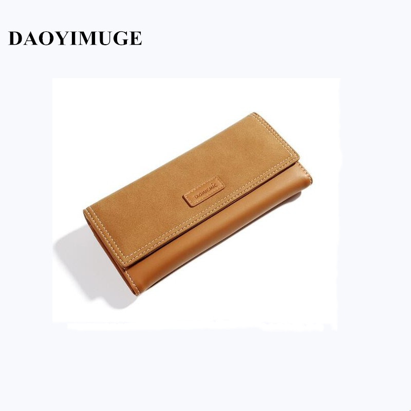 Wallet Fashionable Ladies' Sanded Leather Long And Large Capacity Wallet Fashionable Hand Bag Mobile Phone Bag
