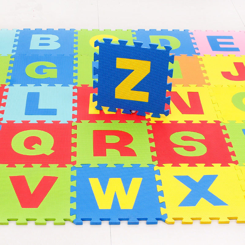 H811748058ef246308370e9a5b28d17a6v 30*30cm Foam English Alphabet Number Pattern Play Mat For Baby Children Puzzle Toy Yoga Letter Crawling Mats Rug Carpet Toys