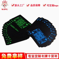 Black And White with Pattern Plastic Card Processing Customizable Black And White with Pattern Fluorescent Plastic Poker Process