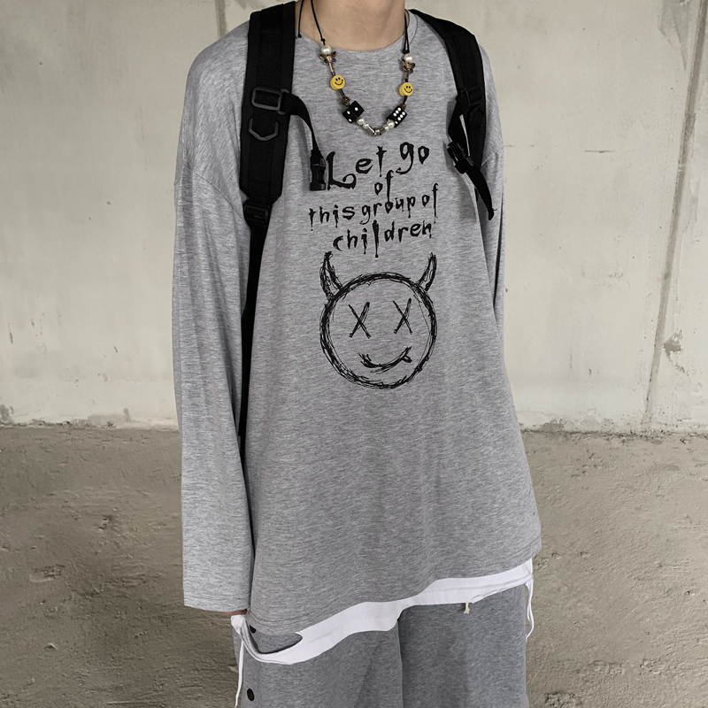 Новинка 2020 простая футболка в стиле Харадзюку с принтом дьявола