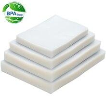 100 PCS/LOT scelleur sous vide sac de rangement en plastique pour machine de cachetage sous vide pour pack économiseur de nourriture emballage rouleaux packer joint sacs