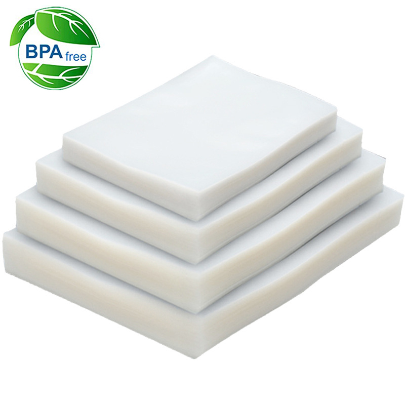 100 шт./лот вакуумный упаковщик пластиковый пакет для вакуумной упаковочной машины для упаковки пищевых продуктов рулонные упаковочные паке...