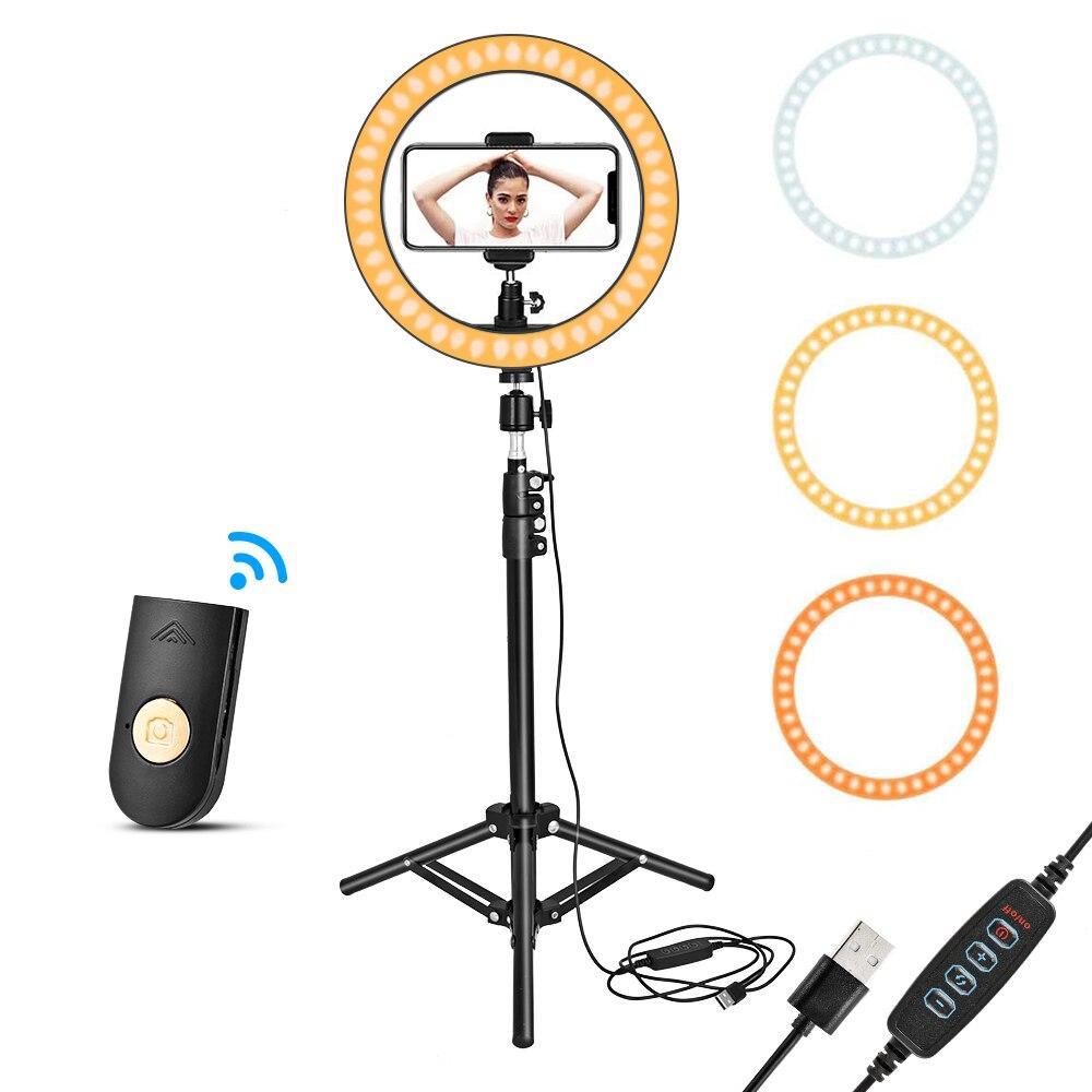 Anillo de luz Led para Selfie con soporte para trípode soporte para teléfono móvil lámpara de anillo USB para maquillaje en vivo TikTok YouTube fotografía y vídeo| |   - AliExpress