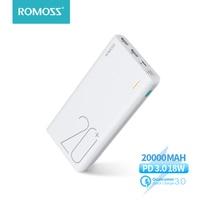 ROMOSS-cargador portátil Sense 6 +, batería externa de carga rápida bidireccional, 20000mAh, PD3.0, para teléfonos y tabletas