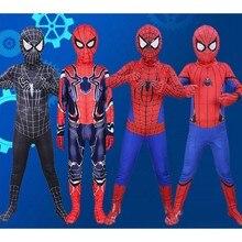 Костюм Супергероя человека-паука для мальчиков; костюм Человека-паука для костюмированной вечеринки; одежда с маской