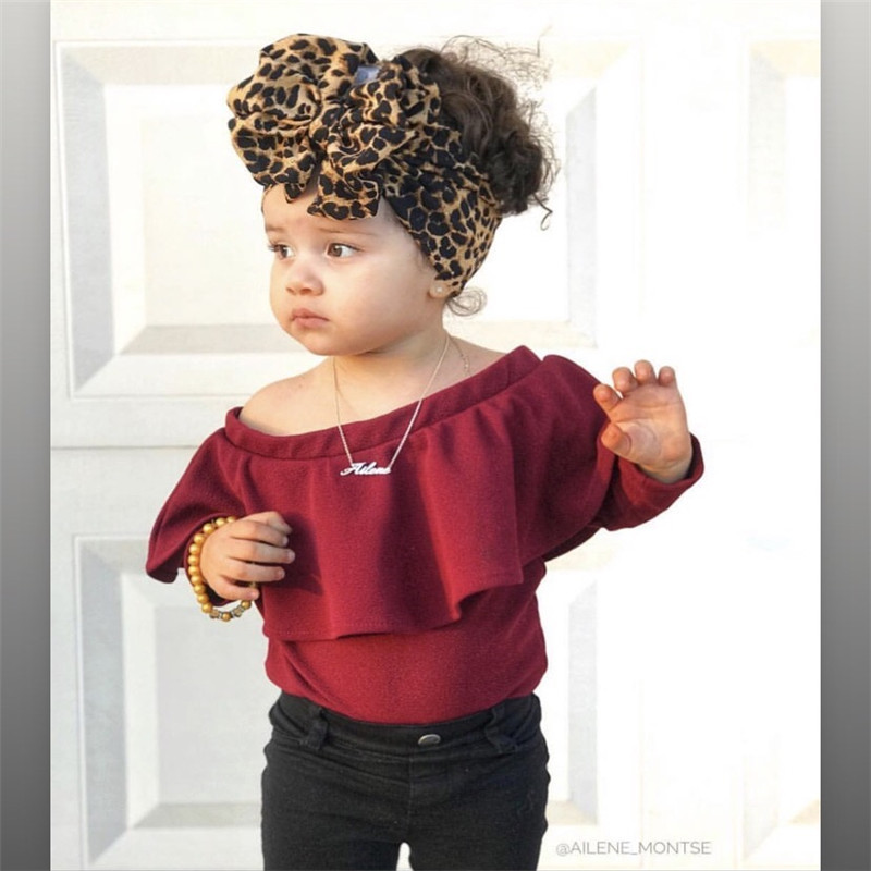 Leopard Baby Headband Haby Hat Turban Baby Girl Headbands For Girls Turban Headwrap Baby Bows