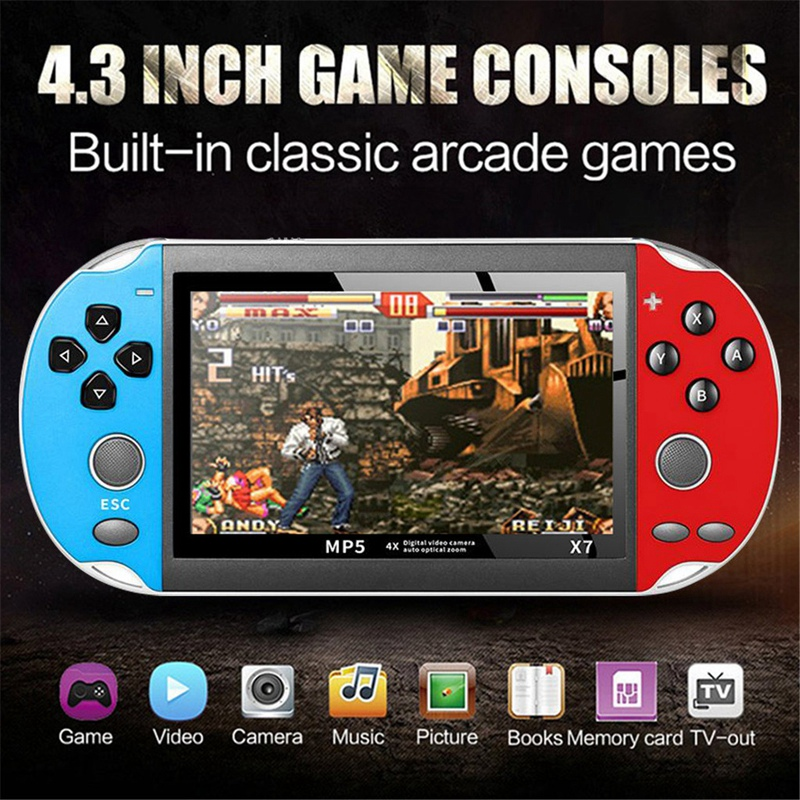 Portable Retro Classic Game Console Handheld Boy Nostalgic 800 Built-In 4.3 Inch TFT Screen Games for Child Nostalgic Player