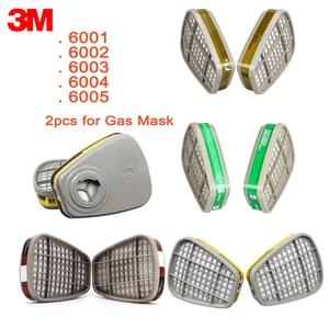 Image 1 - Картридж с фильтром 3M 6001/6002/6003/6004/6006 для химического распыления краски, картридж с фильтром кислотный газовый для маски 6200/7502/6800