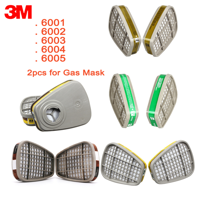 3M Cartridge Filter 6001/6002/6003/6004/6006 for Chemical Spray Paint Filter Cartridge Acid Gas For6200/7502/6800Mask