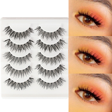 False-Eyelashes Eye-Makeup Natural Cross High-Quality Fake-Thick New-Fashion 5-Pairs