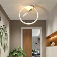 Luces de techo LED modernas para guardarropa, dormitorio, pasillo, balcón, entrada, lámpara de techo pequeña blanca para el hogar