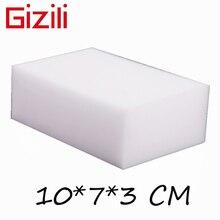 GIZILI 50 unids/lote Borrador de esponja mágica de alta calidad, esponja limpiadora de melamina para cocina, oficina, baño, limpieza, 10x7x3cm