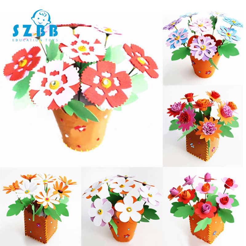 Sz Steam Toys For Children Crafts Kids DIY Flower Pot Potted Plant Kindergarten Learning Education Toys Teaching Aids Toy