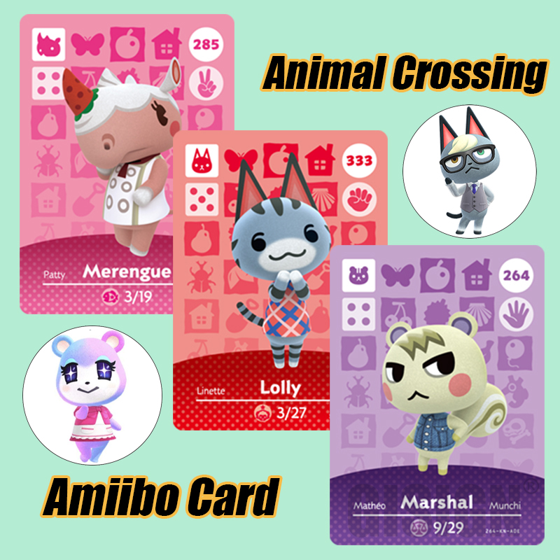Lolly Animal Crossing Amiibo New Horizons Game Card For NS Switch 3DS Game Card Set NFC Cards Hot Villager Merengue