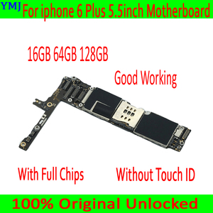 Image 2 - Unlocked mainboard for iphone 6 Plus motherboard,16GB/64GB /128GB logic board for iphone 6P MB Plate with/without touch ID