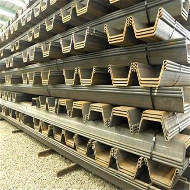U-shaped Type Cold Rolled Sheet Pile For Steel Structure Building Foundation Construction