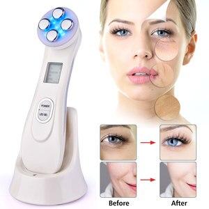 Image 3 - 5 1 LED 피부 강화 장치 RF/EMS Mesotherapy Electroporation 아름다움 무선 주파수 LED 광자 얼굴 피부 젊 어 짐