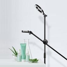 Led Lamp Kralen Ring Licht Boom Arm Beugel Stand Photo Studio Kits Voor Telefoon Fotografie Foto Video Schieten Licht Invullen