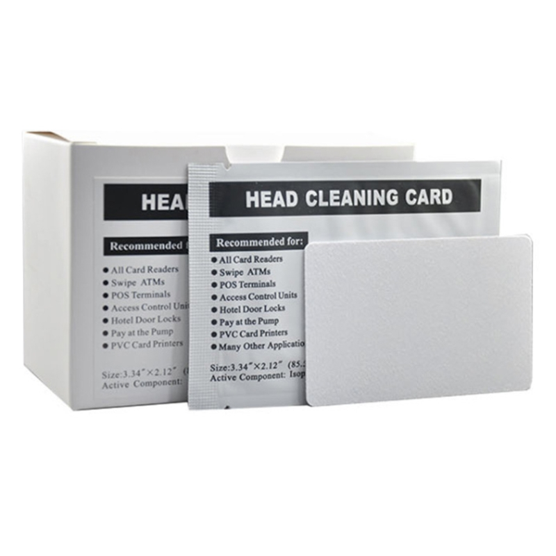 50 Pcs Card Reader Cleaning Cards ATM Cleaning Card Magnetic Strip Cleaning Card R2JF