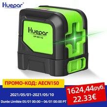 Huepar Niveau Laser 2 Lignes Auto-nivellement (4 Degrés) Faisceau Vert Rouge Laser Ligne Horizontal & Ligne Vertical et Croisée avec Base Magnétique
