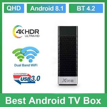 X96s Android 8.1 TV Stick Smart TV box QHD Amlogic S905Y2 2GB/4GB 16GB/32GB Mini PC WiFi 4K HD Media Player X96S TV Stick