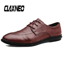 CLAXNEO Man Shoes Leather Autumn Men's Casual Shoe Genuine Leather Male Derby Footwear Retro Vintage clax Design social shoe цена