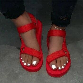 2020 sandalias de talla grande para mujer, zapatos de cuña para mujer,...