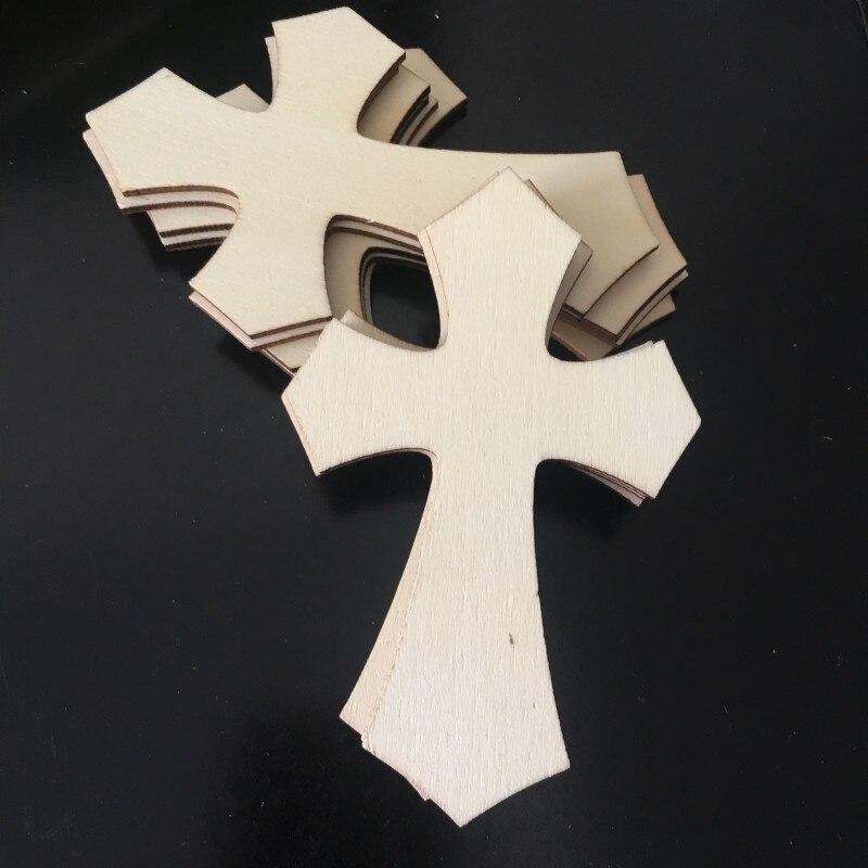 Деревянные вырезы пустое дерево без отделки в форме Креста, 10 шт., для проектов «сделай сам» искусства, украшения, бирки для подарка
