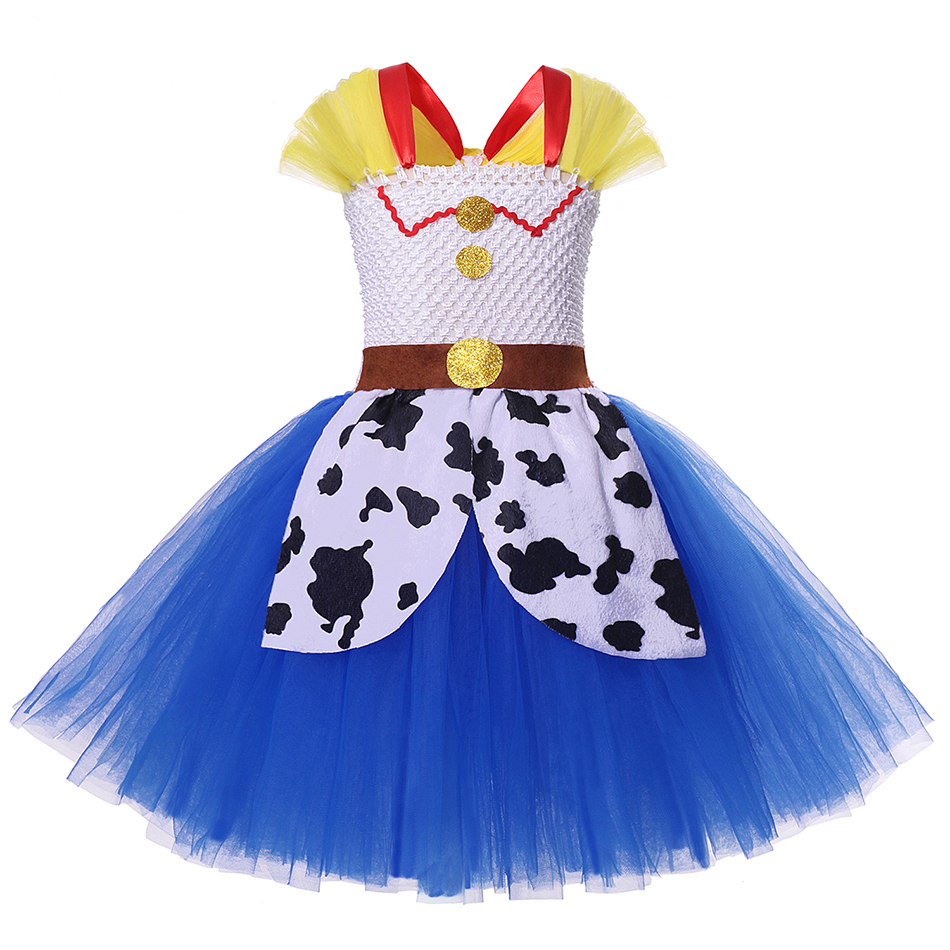 Girls Toy Story 4 Forky Cosplay Dress Woody Jessie Makeup Tutu Baby Girl Cartoon Role Playing Halloween Buzz Lightyear Costumes 3
