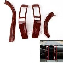 Wooden Interior Cover Trim Decoration for Toyota Land Cruiser 120 Prado FJ120 2003 4 5 6 7 2009 Car Styling Accessories