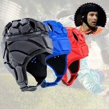 цена на Helmet Men Profession Goalkeeper Adjustable Anti-Collision Football Soccer Goalie Helmet Guard Breathable Sports Head Protector