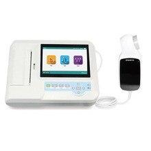 Цифровой спирометр SP100 с принтером, дыхательный медицинский дыхательный тренажер, диагностическая Спирометрия, портативный тестер функции легких
