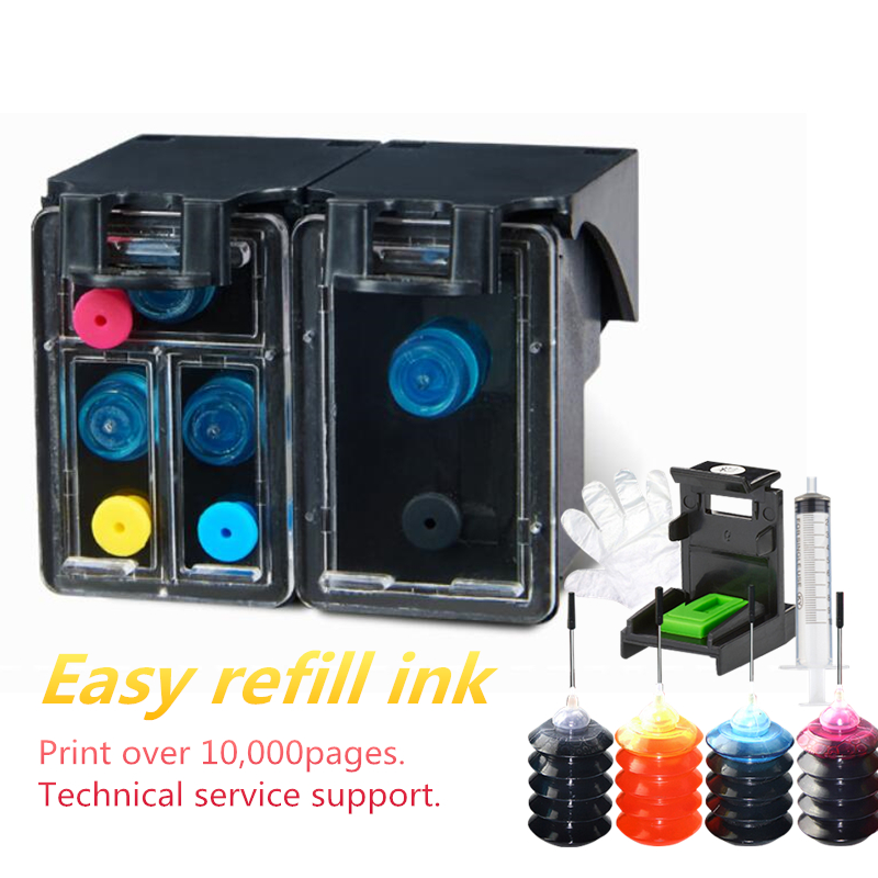 Russian 122XL Refillable Ink Cartridge Replacement for <font><b>HP</b></font> <font><b>122</b></font> Ink for Deskjet 1050A 2050 2050A 3000 3050 3050A 1510 Printer image