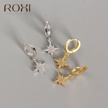 ROXI 2020 New Delicate Small Star Earring Snowflake Christmas Earrings for Women