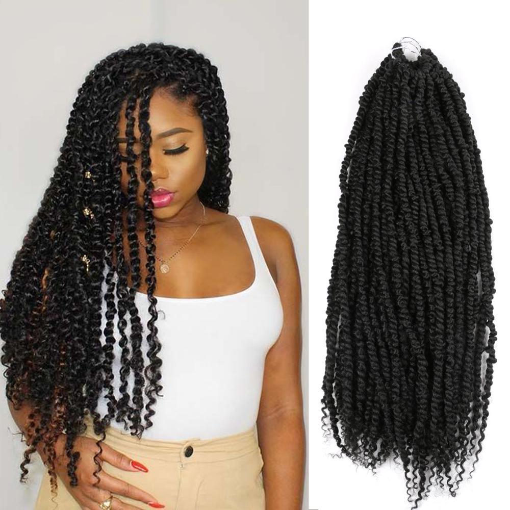 Passion Twist Braids X2 Crochet Braiding Hair Synthetic Crochet Hair Extensions 24 Inch High Temperature Fiber Braiding Hair